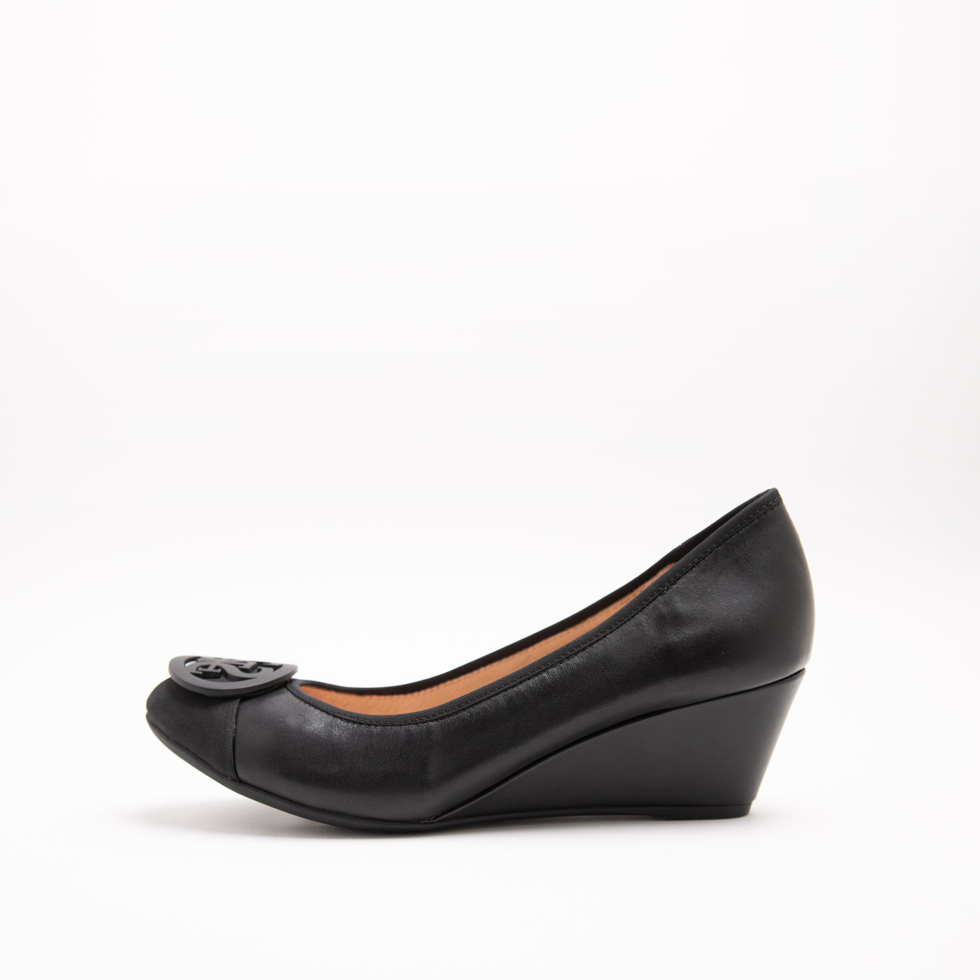 STACCATO BUCKLE WEDGE PUMPS