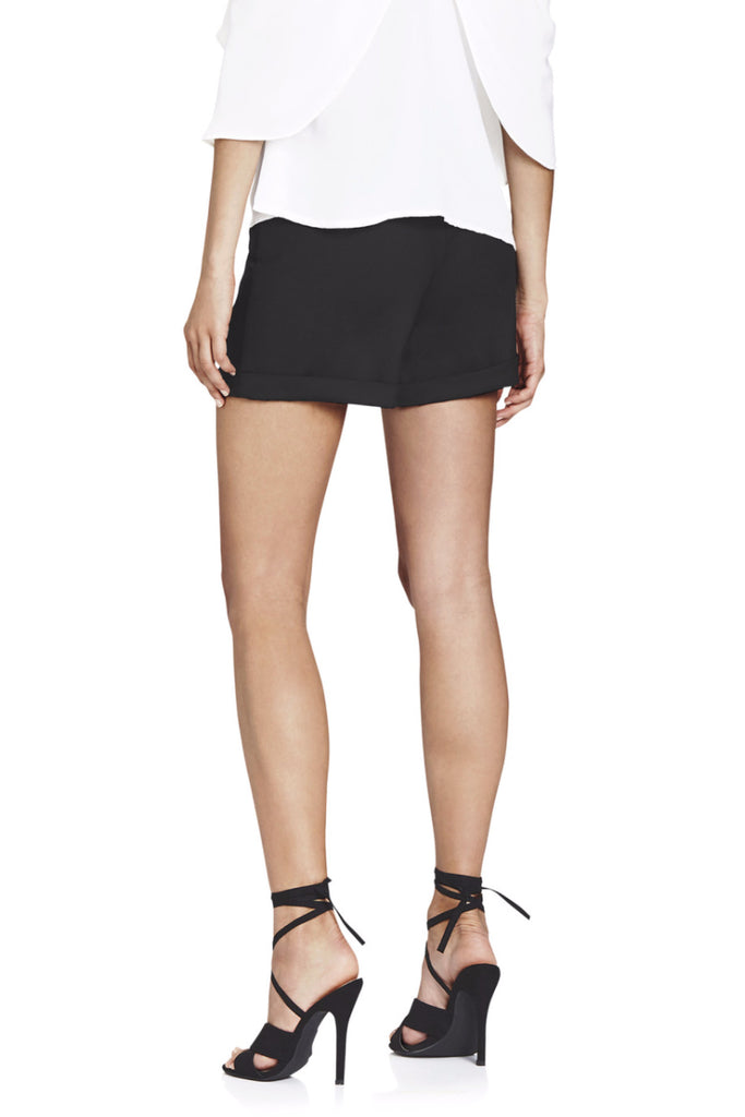 BLACK CUFF SHORTS  Skirts & shorts - Majestee Clothing
