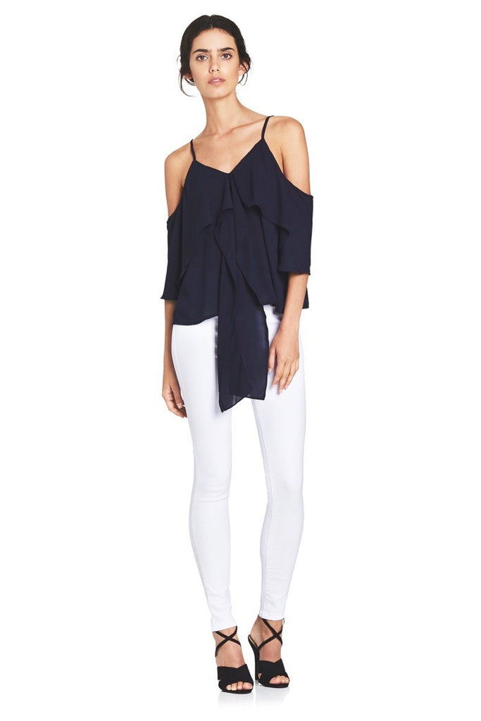 WATERFALL TIE TOP  Tops - Majestee Clothing