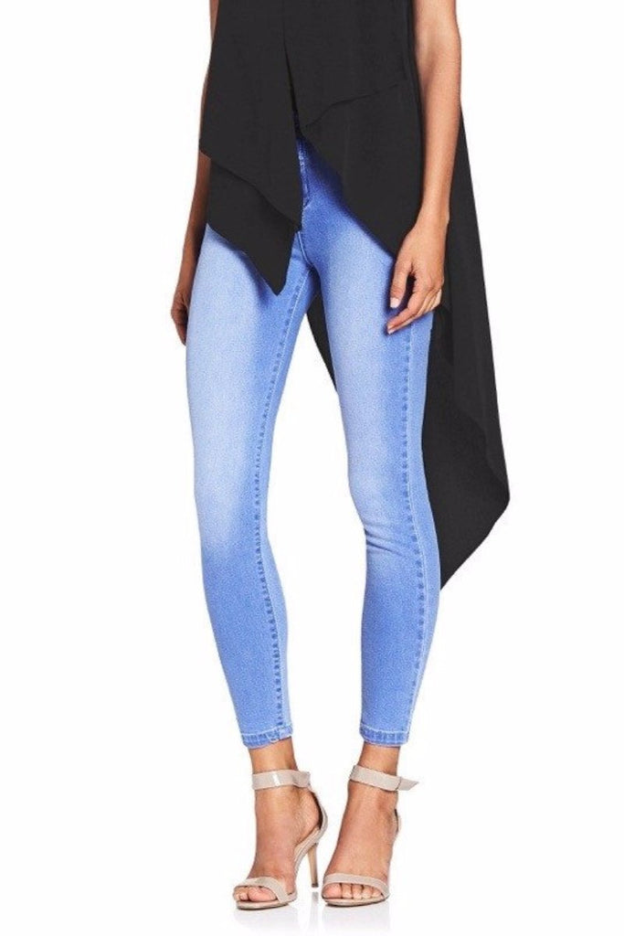 KATE BLUE HIGH WAIST JEAN  Pants & leggings - Majestee Clothing