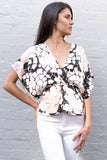 RESORT CROSSOVER MOSAIC TOP