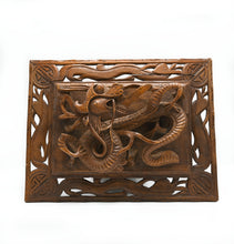 Load image into Gallery viewer, Carved Wooden Dragon Wall Hanging- Raised Design