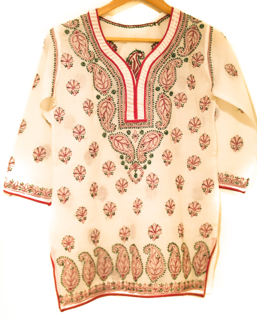 Hand Sewn Cotton Short Kurta- Size Small