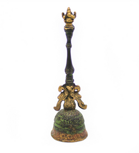 Ganesha Topped Ceremonial Bell