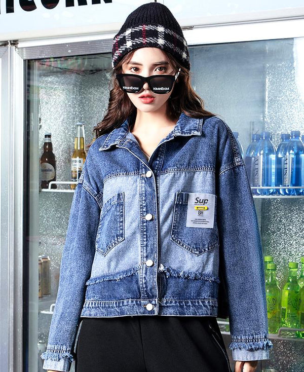 Autumn Winter Denim Jacket - TstudioCo