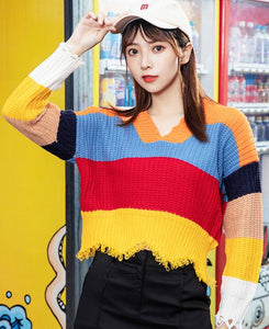 Colorful Knitted Top - TstudioCo