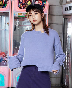 Cropped Knitted Sweater - TstudioCo