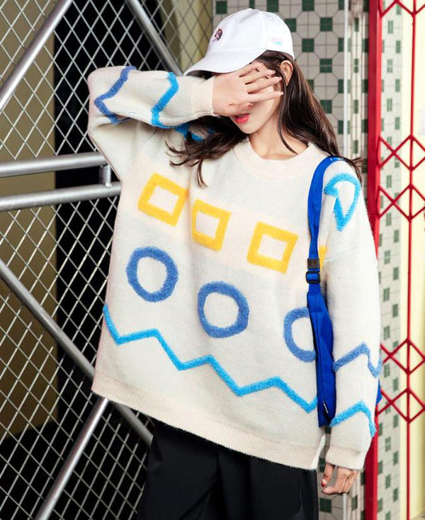 Knitted Patterned Sweater - TstudioCo