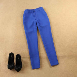 Pant Suits Set women's autumn female professional office lady blazer Slim blue suit jacket+ pants feet pants two sets