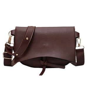 Vintage Saddle Female Shoulder Bags Wide Strap Large Capacity Ladies Hand Bags PU Leather Crossbody Bags For Women 2020