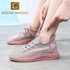 KATELVADI Women Sneakers Casual Shoes 2020 Brand New Breathable Low Top Tennis Shoes Women SP004