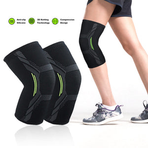 Knee Protector Sports Knee Pads Breathable Volleyball Running Fitness Hiking Cycling Knee Brace Support Pressurized Knee Support