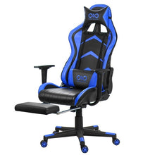 Load image into Gallery viewer, Wcg Gaming Chair PVC Household Armchair Ergonomic Computer Chair Office Chairs Lift and Swivel Function Adjustable Footrest