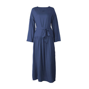 Sale Women Sexy Long Shirt Dress Office Ladies Casual Work Elegant Dresses V Neck Long Sleeve Side Split Blouse Maxi Dress D30