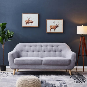 Nordic modern simple small apartment net sofa light luxury living room bedroom sofa seat solid wood frame soft sofas