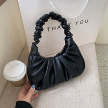 Load image into Gallery viewer, Folds Design Small PU Leather Shoulder Bags For Women 2020 Elegant Handbags Female Travel Totes Lady Fashion Hand Bag