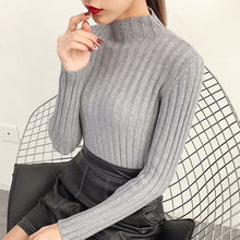 Load image into Gallery viewer, shintimes Women Sweater 2020 Casual Turtleneck Knitted Sweater Winter Female Pullover Woman Sweaters Long Sleeve Womens Clothing