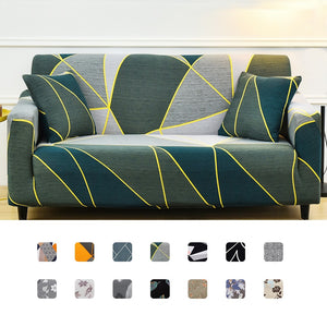 Slipcover Stretch Sofa Cover Leaves Print All-inclusive Couch Cover Different Shape Sofa Loveseat Chair L-Style Need 2 Sofa Case