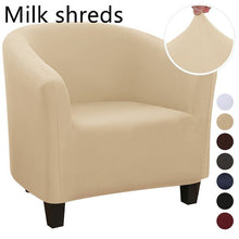 Load image into Gallery viewer, Plush Elastic Coffee Chair Sofa Cover Solid Color Leisure Stretch Bathtub Armchair Seat Cover Protector Washable Slipcover 1pc