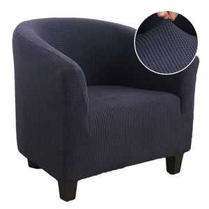Plush Elastic Coffee Chair Sofa Cover Solid Color Leisure Stretch Bathtub Armchair Seat Cover Protector Washable Slipcover 1pc