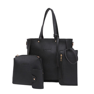 ladies hand bags Four Set Handbag Shoulder Bags Four Pieces Tote Bag Shoulder Crossbody Wallet Bag clutch torebki damskie L2