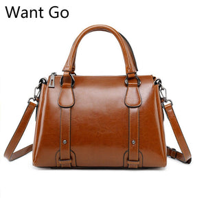 Want Go New Vintage Women Split Leather Handbag  Female Real Lather Tote Bag Fashion Lady Party Handbag Hot Sale Crossbody Bags