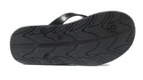 Archline Kids Orthotic Flip Flops – Black/Black