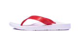 Archline Kids Orthotic Flip Flops – White/Red