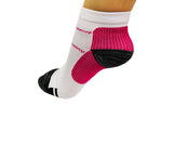 Running Socks Pink/White