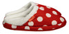 Archline Orthotic Slippers Slip-On – Red with White Polkadots