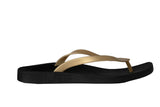 Archline Breeze Orthotic Flip Flops – Black/Gold