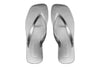 Archline Breeze Orthotic Flip Flops – White/Silver