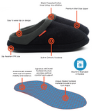 Archline Orthotic Slippers Slip-On – Charcoal Marl
