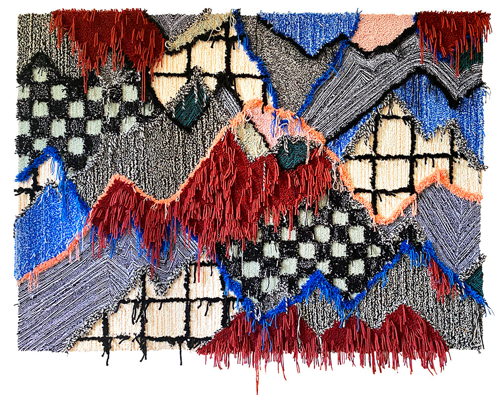 Trish Andersen Onwards and Upward tufted fiber art