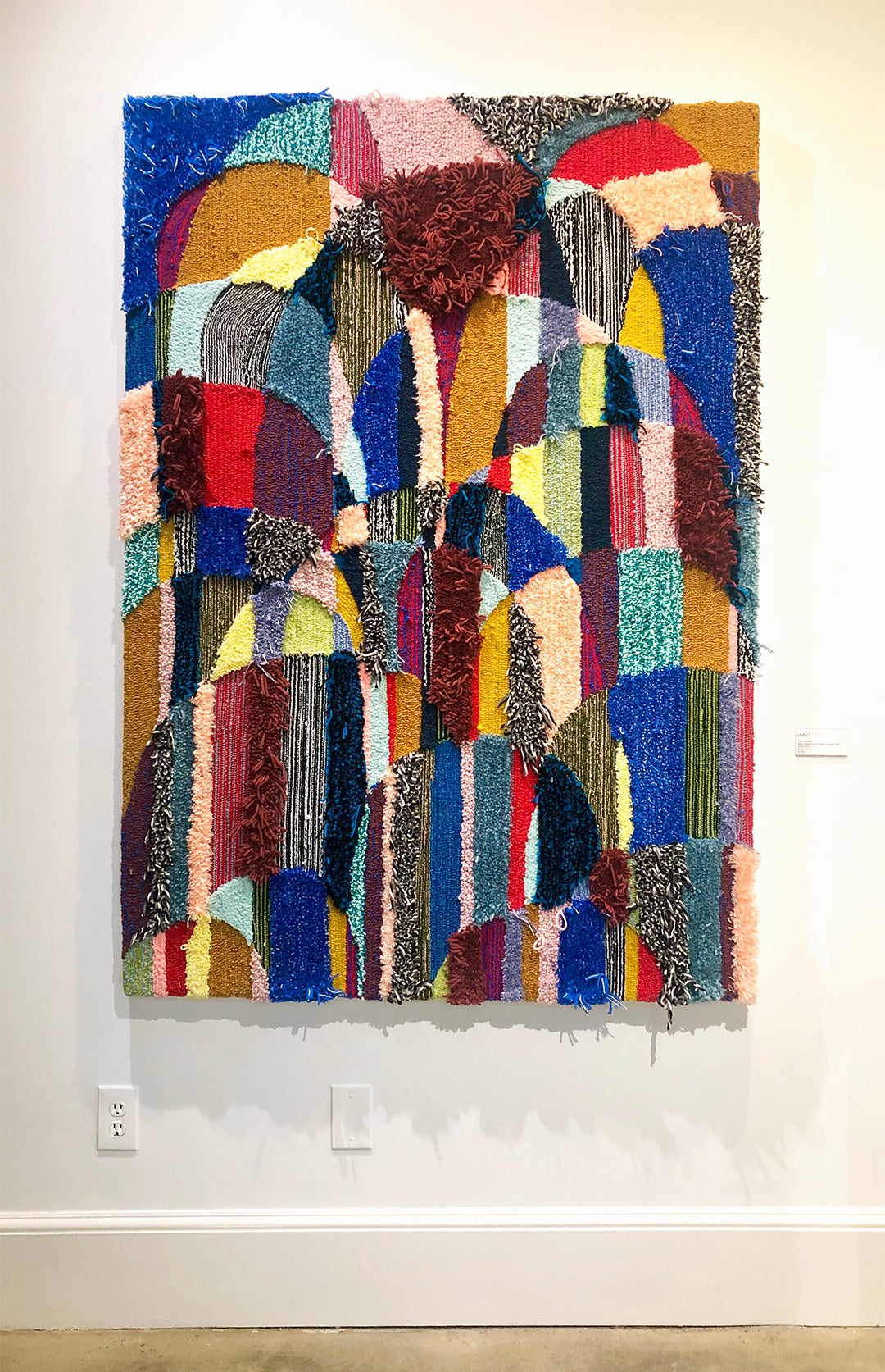 Trish Andersen tufted fiber fine art Windows into the radiant unknown