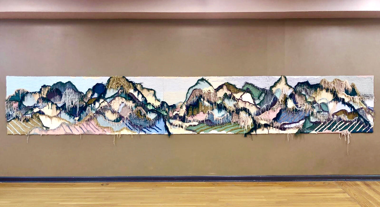 trish andersen studio large scale fiber art tufting landscape