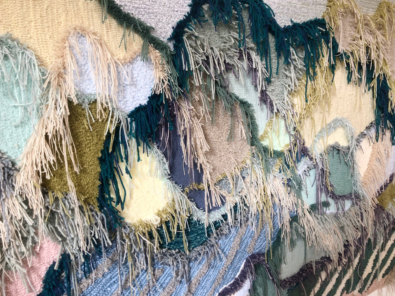trish andersen studio large scale fiber art landscape inspired close up