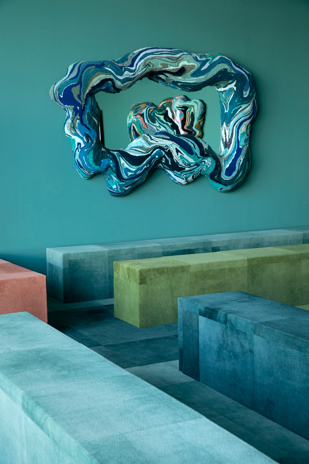 Trish Andersen tufted mirrors Design Miami + SCAD