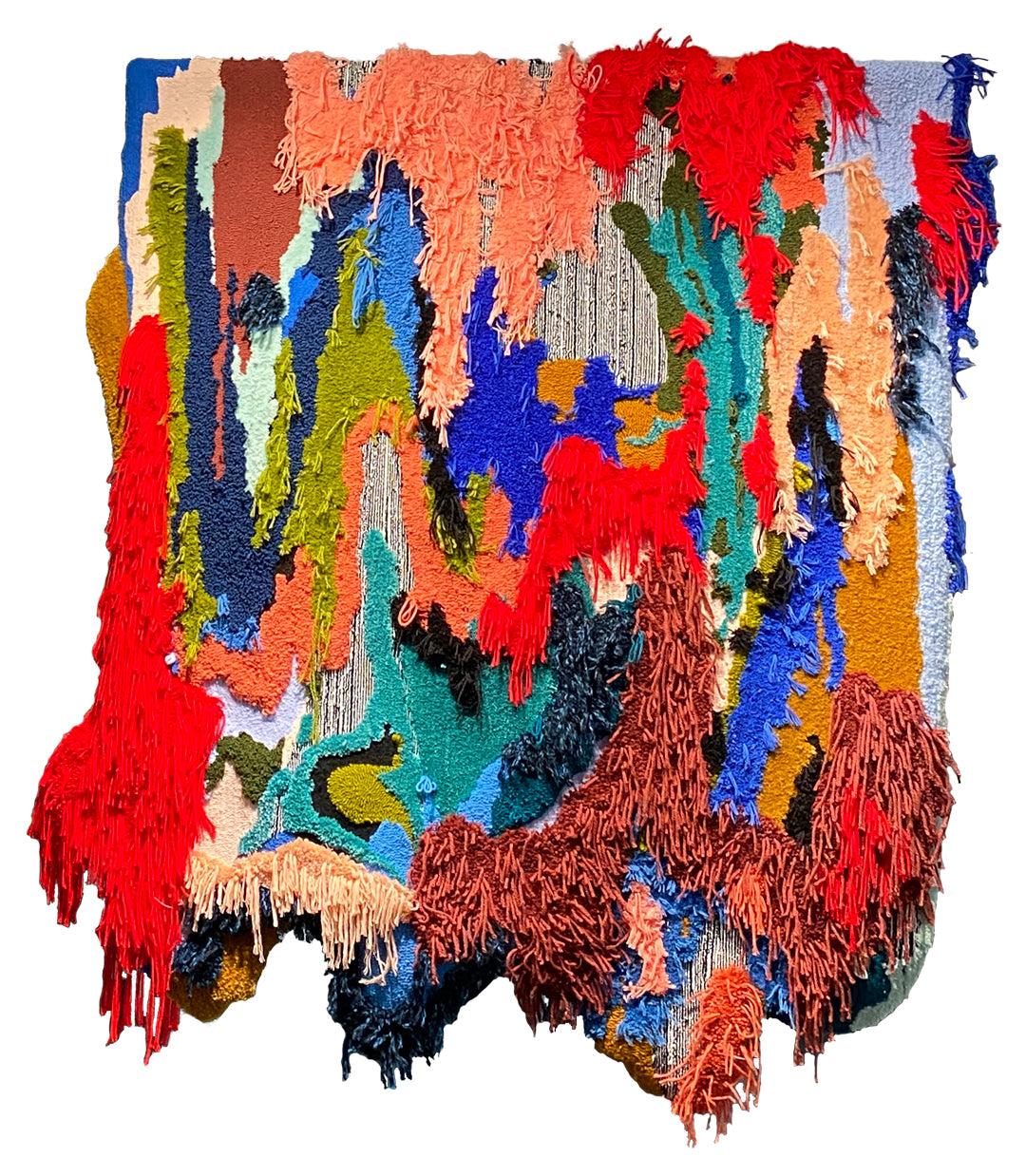 Trish Andersen fiber art tufted art Ebb and Flow wall hanging