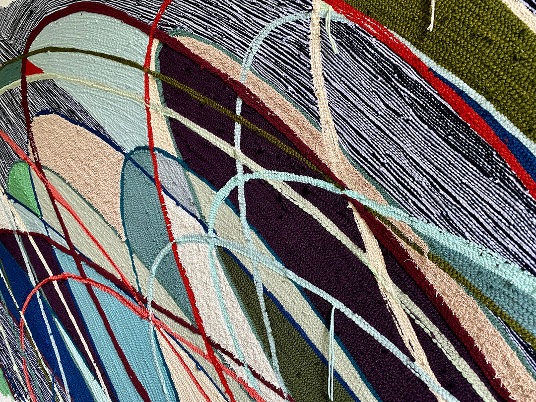 Trish Andersen Kimpton Alton tufted fiber art detail