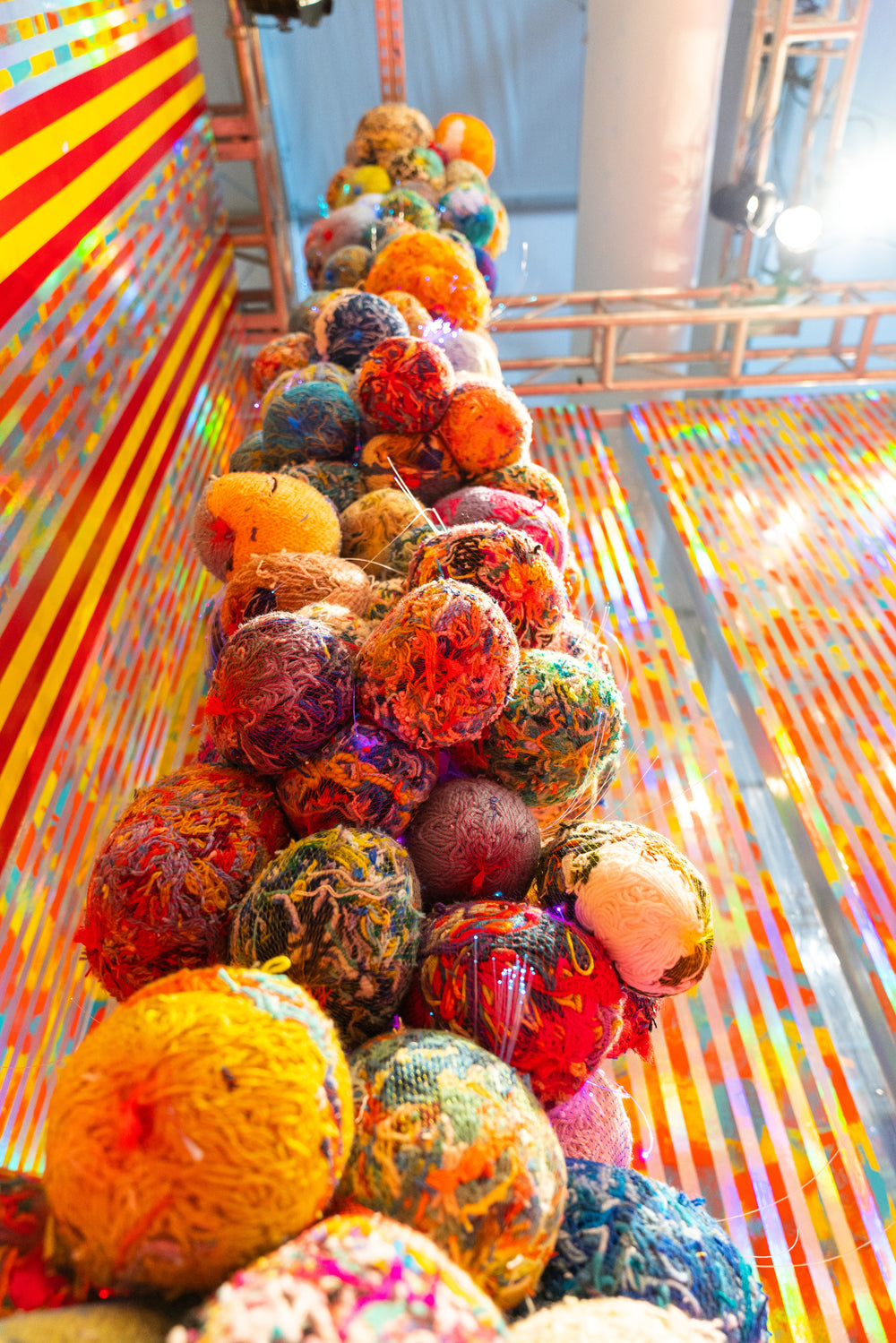 Trish Andersen mixed yarn fine art installation fiber artist design miami