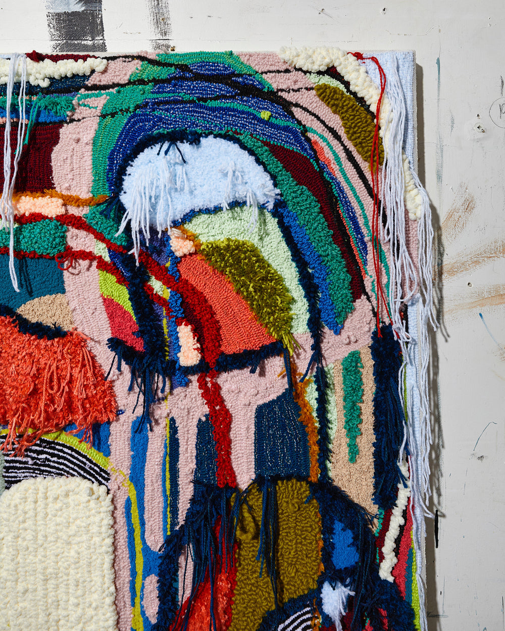 Trish Andersen There is no right or wrong detail of tufted fiber art
