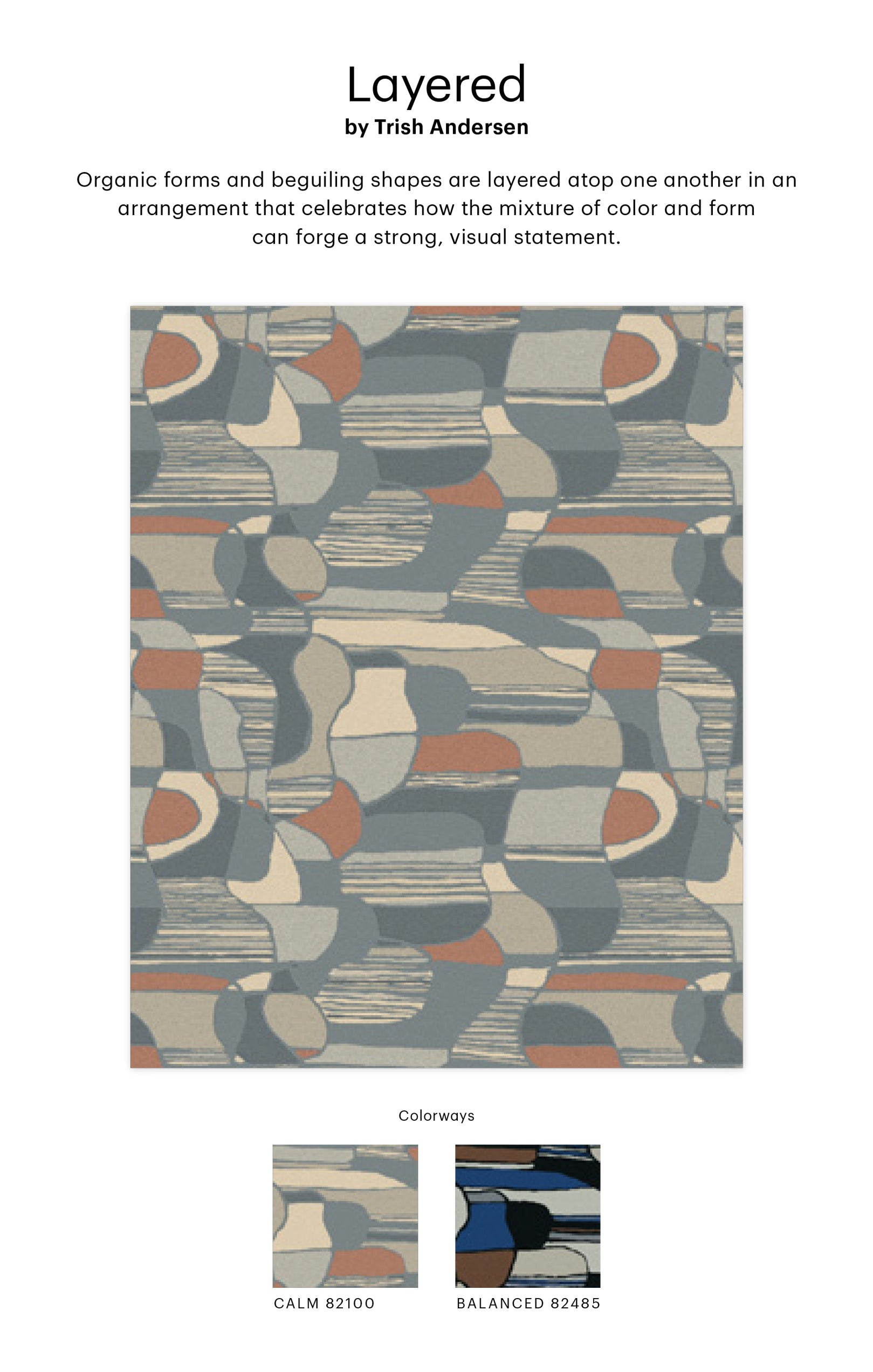 Trish Andersen's Layered rug design collaboration with Shaw Contract