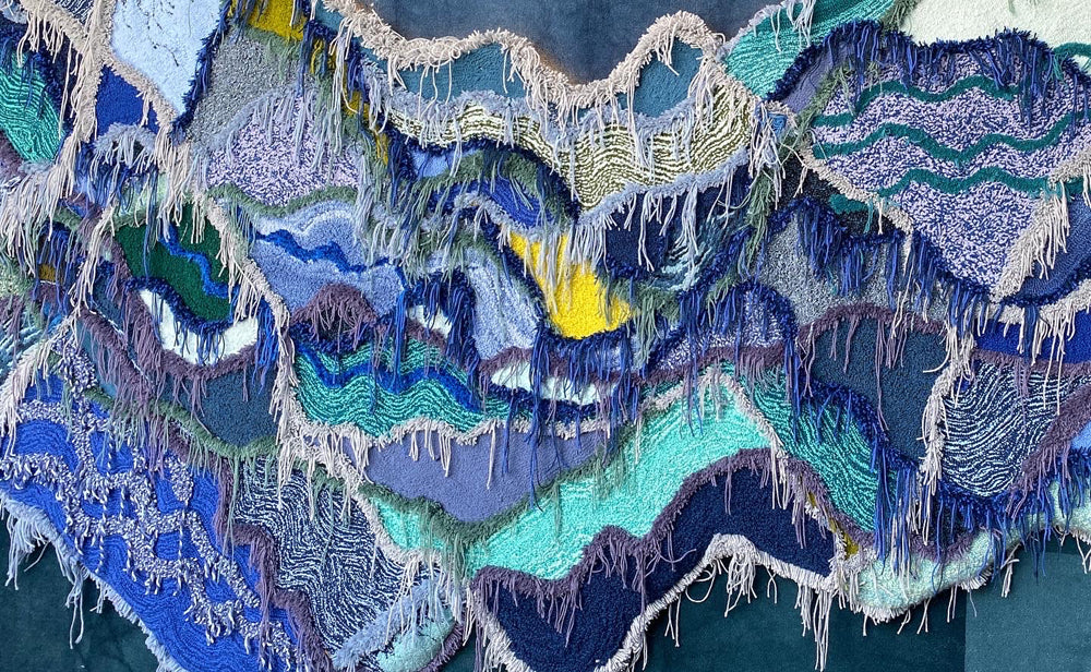 Trish Andersen tufted fiber art for Design Miami and SCAD