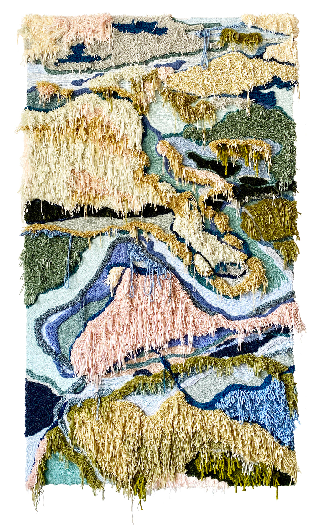 Trish Andersen tufted fiber art low country inspired landscape