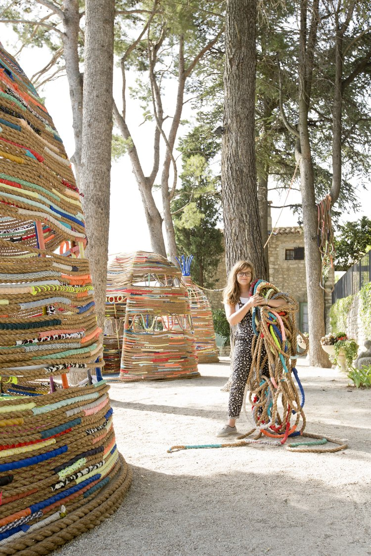 Trish Andersen SCAD lacoste france fiber art rope hut bories