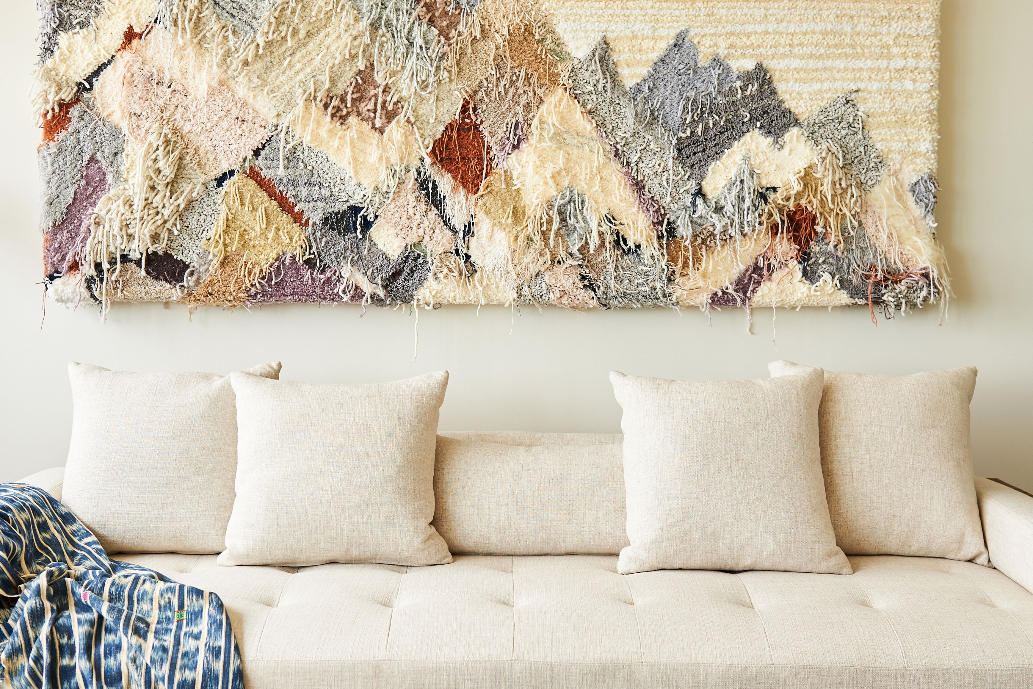 trish andersen studio tufted fiber art neutral landscape