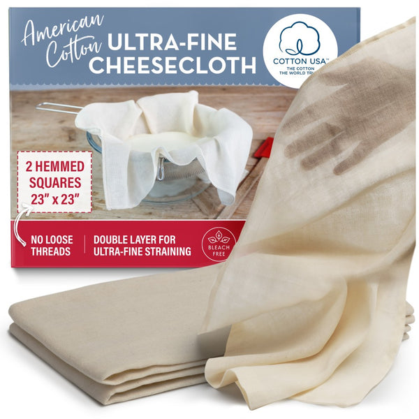 hemmed unbleached cotto cheesecloth squares