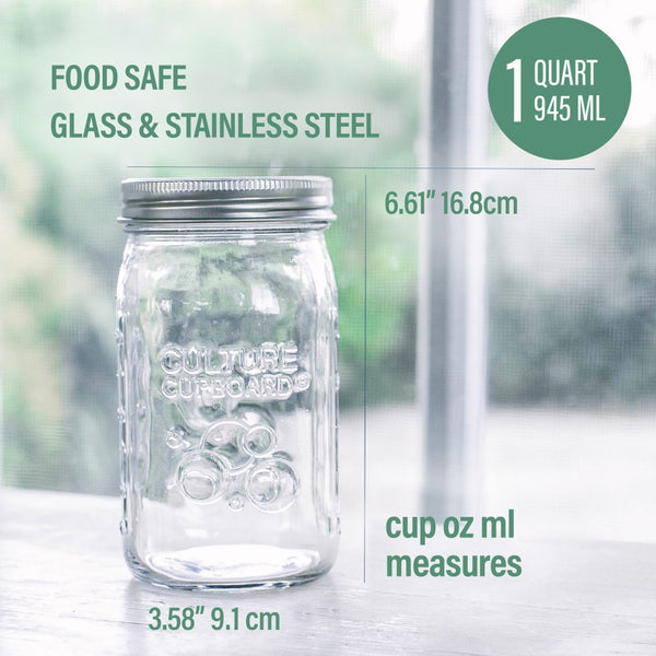 glass food storage jar wide mouth
