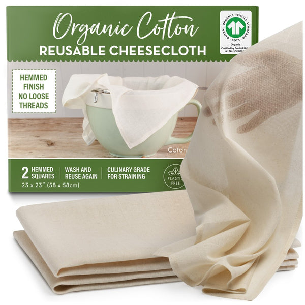 hemmed squares organic cheesecloth
